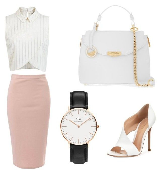 """Elegant"" by sch-csilla on Polyvore featuring Glamorous, Miss Selfridge, Versace, Gianvito Rossi and Daniel Wellington"