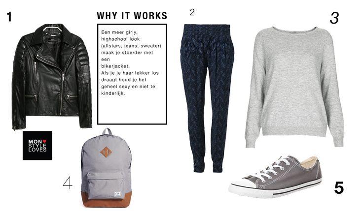 De perfecte 'keep it cool' outfit voor een lentedag met regen.