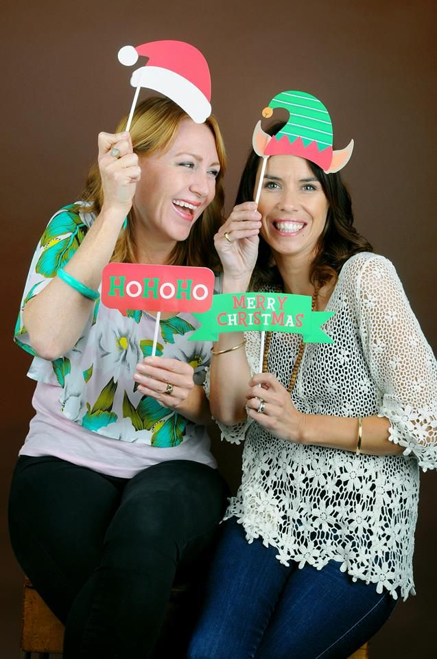 Neena & Belinda, first ever winners from MKR NZ. Christmas photo portrait from PT´s Foto Fun