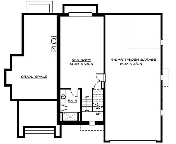 3 Or 4 Car Tandem Garage 23351jd Architectural Designs House Plans Architetura