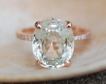Próximamente  anillo de compromiso de zafiro de melocotón
