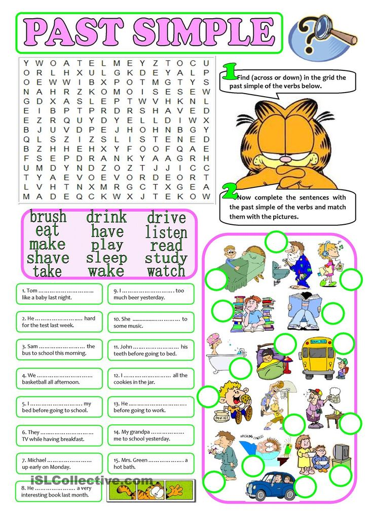 PAST SIMPLE - regular & irregular verbs