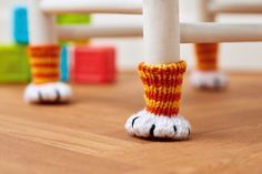 We're rather fond of our feline friends here at Crafty HQ, which is why we're completely enamoured with these adorable cat paw chair socks. The pattern is easy to follow and the paw shape is created by embroidering