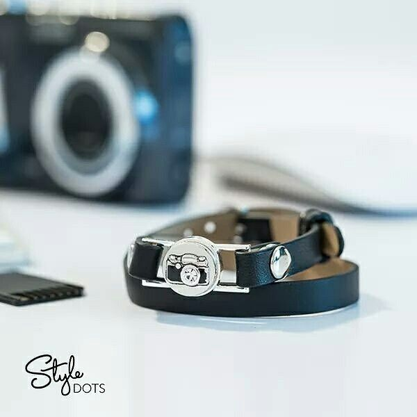 It's #NationalCameraDay! Our Black Wrap Bracelet, 12 mm Classic Wrap Foundation, and our Camera Dot are perfect for the photographer in your life! All dots & foundations sold separately. Shop now @ Christa.StyleDotsHome.com #ThoseSnapThings #ChristaStyleDots #ISDFBPChrista #christaDOTstyledotshomeDOTcom