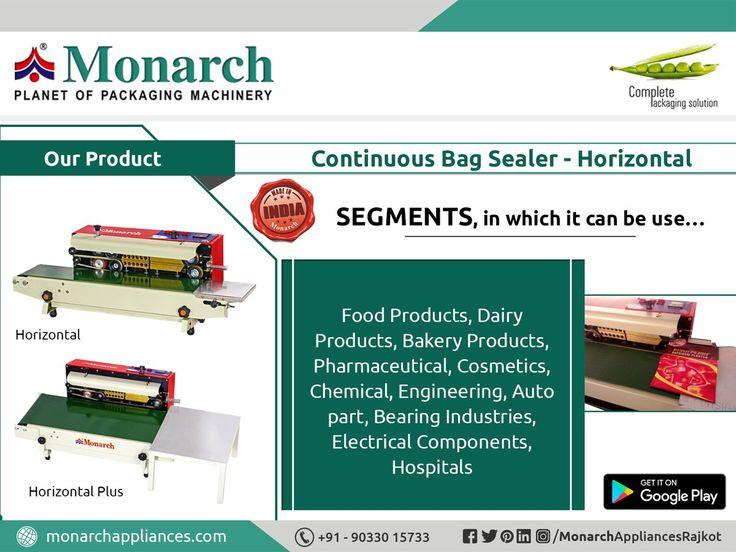 #ContinuousBagSealer #Horizontal#Monarch #packaging #machinery #Ahmadabad #Surat #Rajkot #Metoda #MonarchAppliances