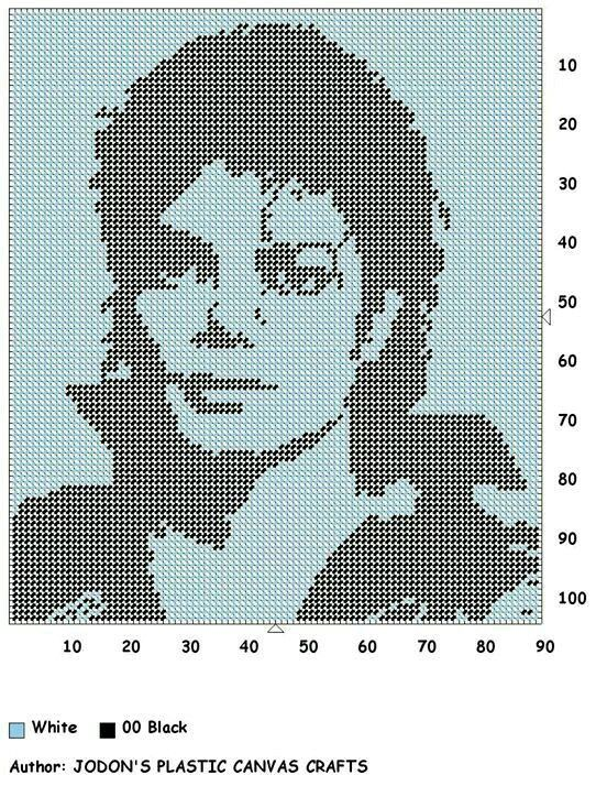 MICHAEL JACKSON by JODON'S PLASTIC CANVAS CRAFTS