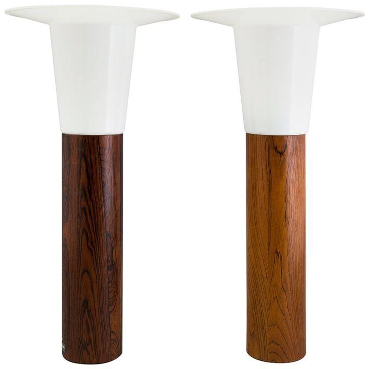 Rosewood Scandinavian Table Lamps by Uno & Osten Kristiansson for Luxus 1