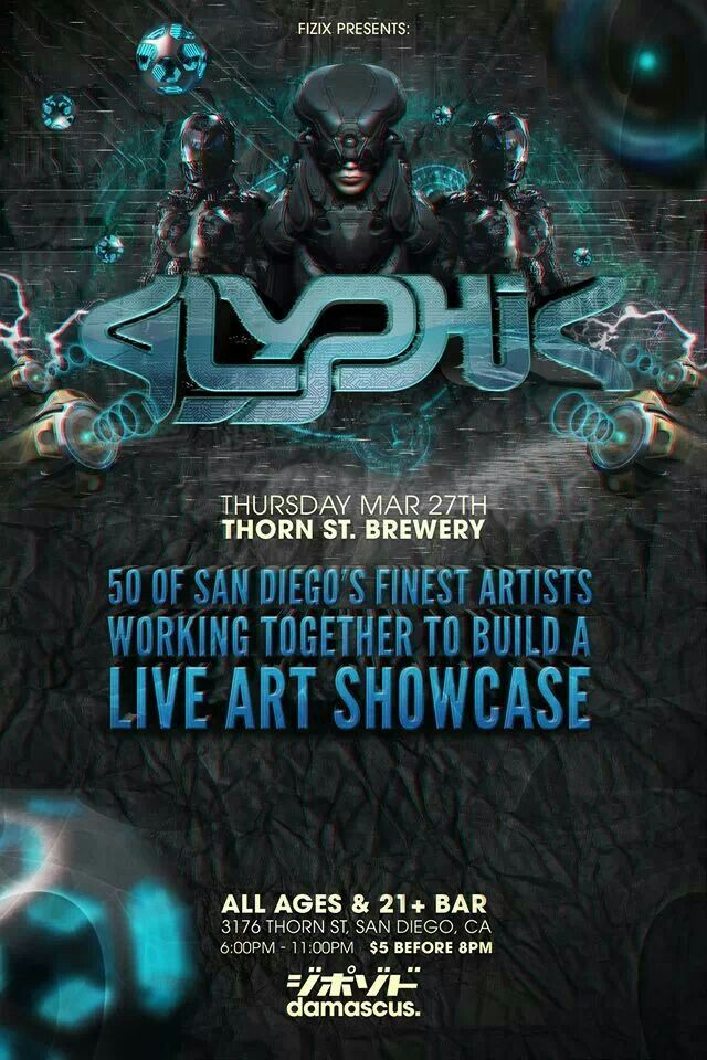 This is an event by Fizix, Chris BK Stubbs and Damascus Apparel! A live art showcase with several artists performing in front of the crowds! If you need to het out and explore some art by many talented people this is the place to be! ALL AGES WELCOMED!  Full bar for 21+ only!