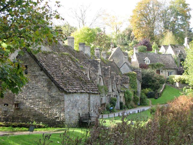 Arlington Row, Bibery, England in The Cotswolds