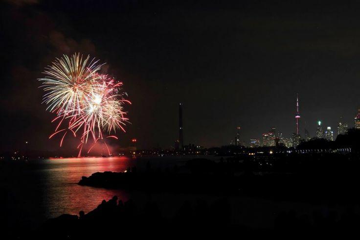 Victoria Day Fireworks in Ashbridges Bay, Toronto, 2014