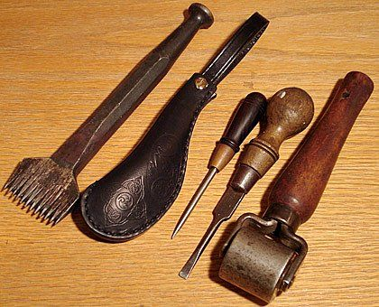 LEATHER TOOLS and their uses...stamping tools explained