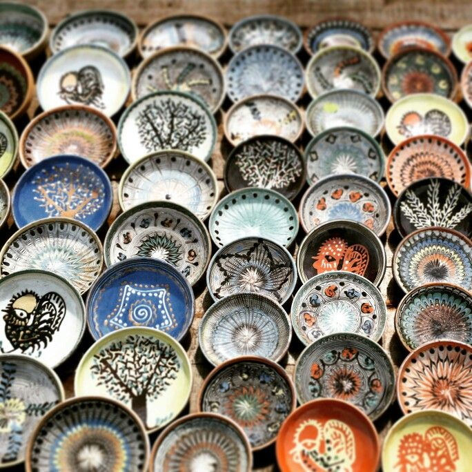 Horezu ceramics  Romanian pottery that is traditionally produced by hand around the town of Horezu close to the famous Horezu Monastery.  http://www.pure-romania.com/about-romania/   #Romania #Horezu #Hurezi #church #Orthodox #tradition #peace #monastery #brâncovenesc #brancovan #unesco #world #heritage #travel #inspiration #pureromania #puregreen