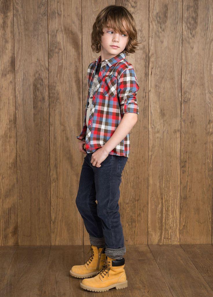 Pantaloni slim-fit velluto a coste - Bambini | MANGO #kidswear #boots #velvet #fall #winter