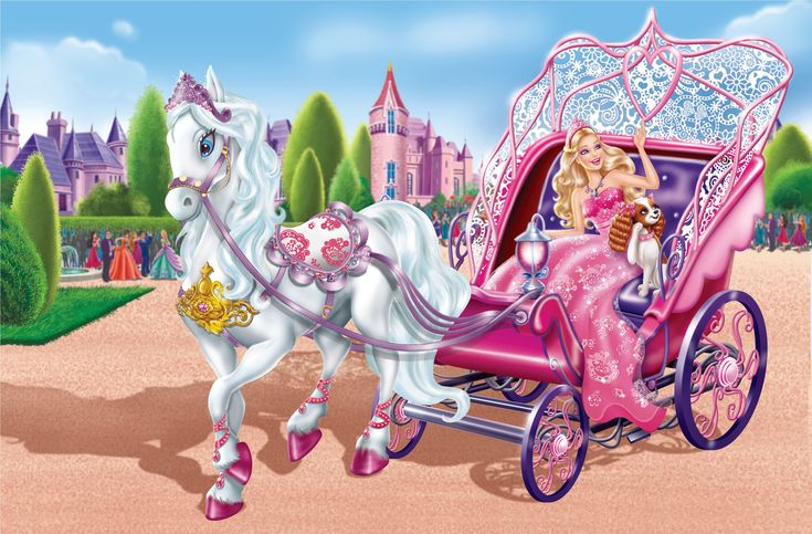 Barbie Cartoon   Barbie Cartoon On Horse Wallpaper HD ForWallpapers.com