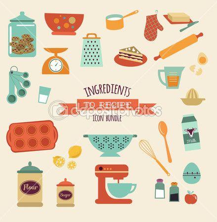 Przepis i kuchnia projekt wektor, zestaw ikon — Ilustracja stockowa #45558841