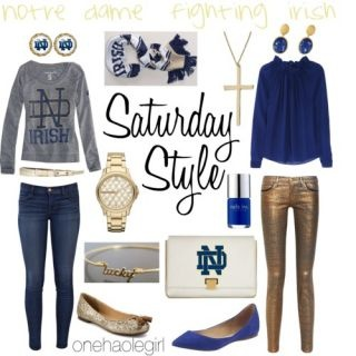 Saturday Style: University of Oregon Ducks & Notre Dame Fighting Irish by Tarole Harris : Lucky Community
