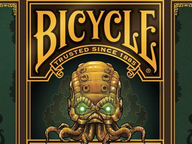 Steampunk Cthulhu Bicycle® Playing Cards by Nat Iwata, via Kickstarter.