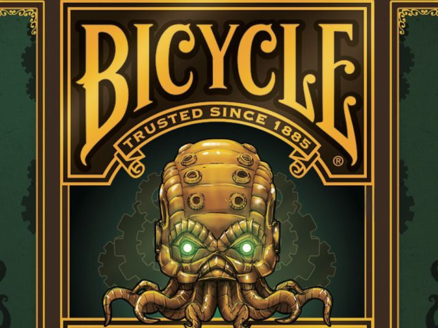Steampunk Cthulhu Bicycle Deck - Extended Print Run by Nat Iwata — Kickstarter  ONLY AVAILABLE UNTIL JUNE 8!
