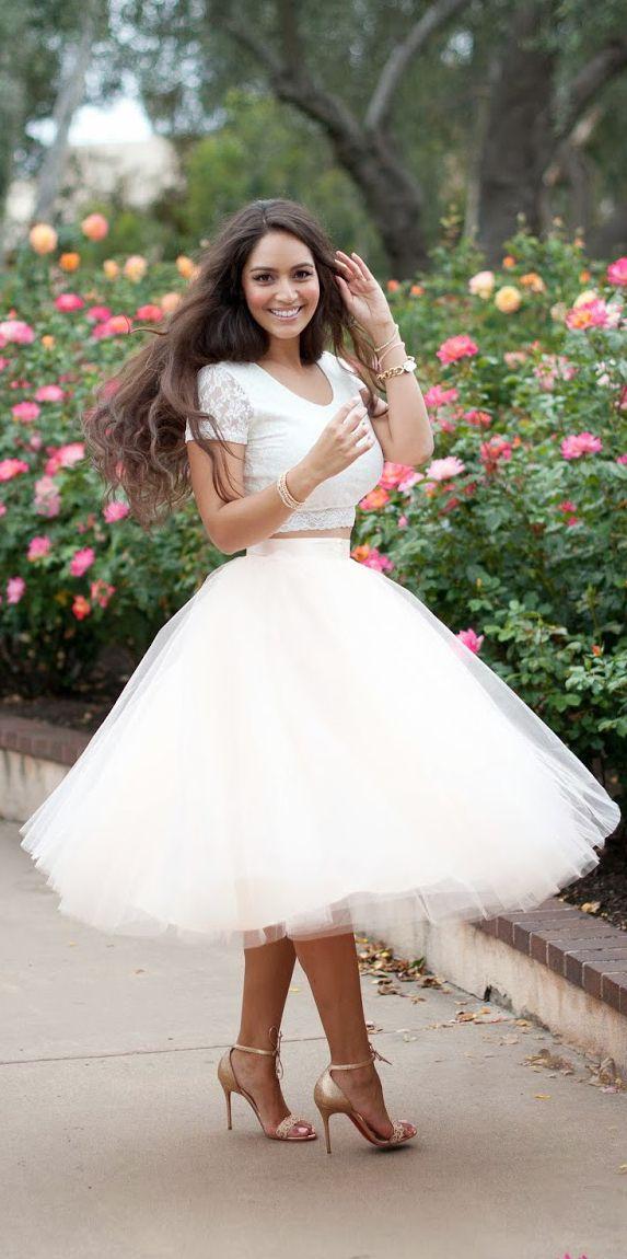 Women's fashion | Oversize pastel tulle skirt