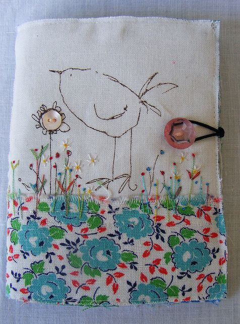Book applique and embroidery. No pattern, just ogle xox