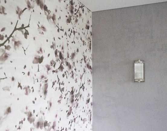 Taitettu lila raikastuu hurmaavalla kukkakuosilla. #asuntomessut #yitasuntomessut #asuntomessut2014 #yitdramaqueen