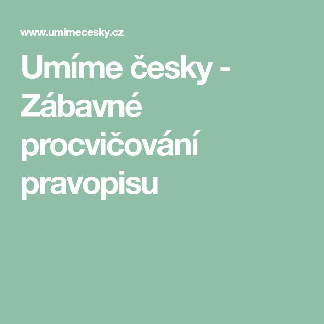 Umíme česky - Zábavné procvičování pravopisu