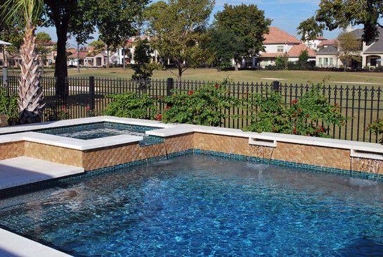 Best Tile For Pool Waterline: Fantastic Glass Tile Pool Waterline With Glass Mosaic