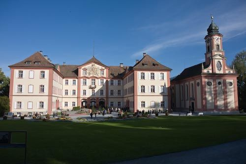 Mainau Island on Lake Constance in Germany: Picture of the summer palace on Mainau Island in Germany.
