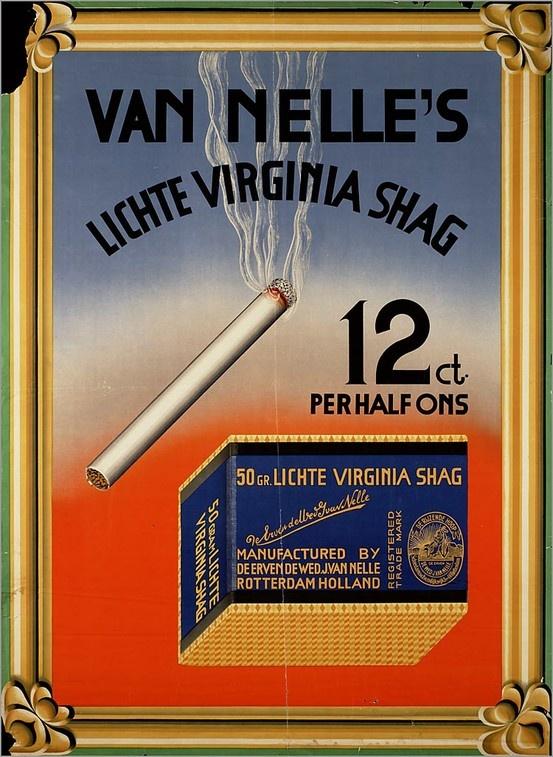 Van Nelle's vintage cigarette tobacco advertisement, 1939