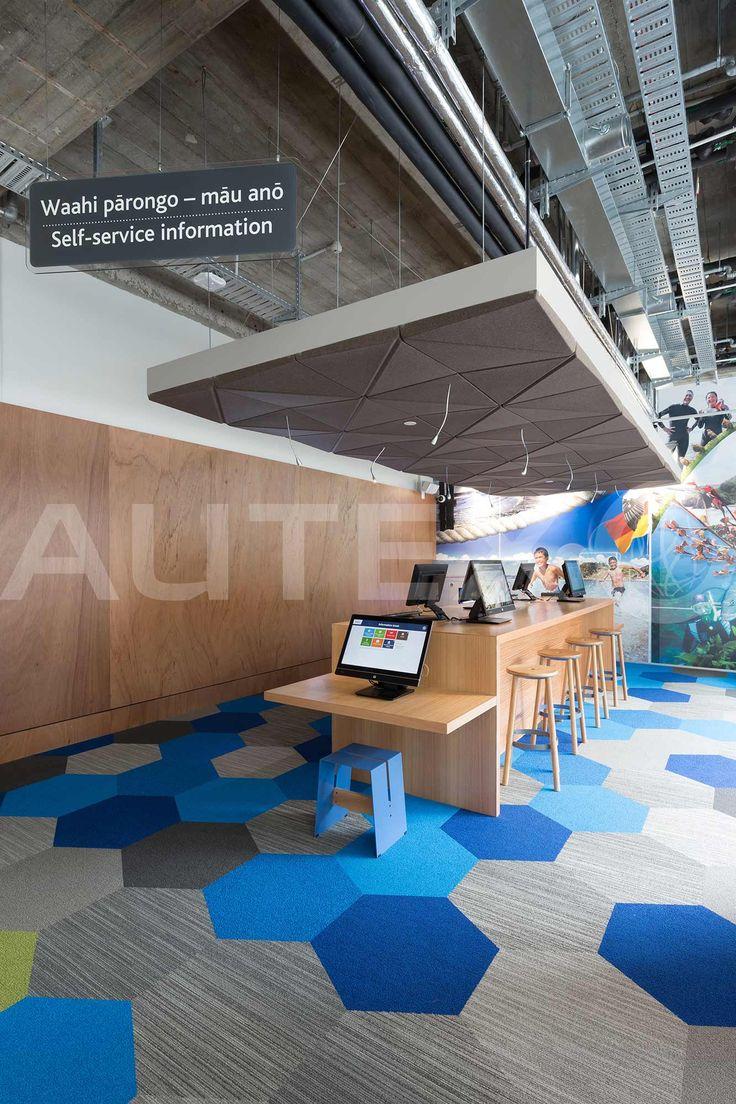 Quietspace® 3D Ceiling Tiles - Auckland City Council, NZ - S-5.53 colour Silver