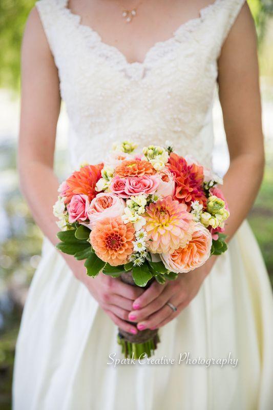 Zinnia wedding bouquet                                                                                                                                                      More