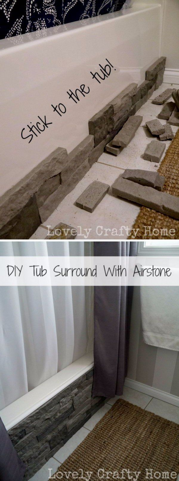 Erika Saiza saved to Bathroom/ vanity decor ideas/diysDIY Update Your Boring Builder Bathtub With Airstone. #homedecor #bathroomideas #bathroompalletprojects #SmallBathrooms