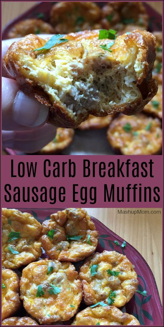 Low Carb Breakfast Sausage Egg Muffins -- Also Gluten Free! Make this easy breakfast recipe affordable with ALDI ingredients. :) These reheat well, so make a batch on Sunday to enjoy all week. | MashupMom.com