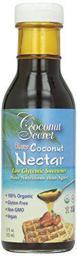 Coconut Secret Organic Raw Coconut Nectar Low Glycemic Sweetener - 12 oz - http://goodvibeorganics.com/coconut-secret-organic-raw-coconut-nectar-low-glycemic-sweetener-12-oz/