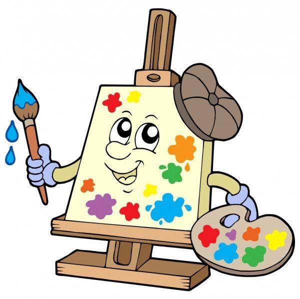 Artista De Lienzo De Dibujo Animado Cartoon Artist Cartoon Canvas