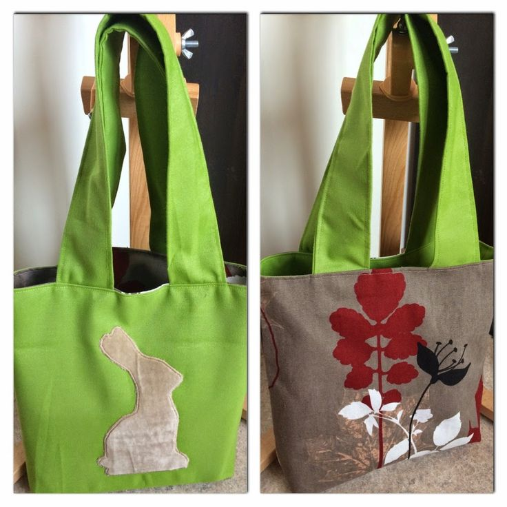 A needle and some thread: Reversible bunny bag