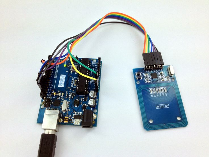 RFID on the arduino uno usning the MF522-AN module