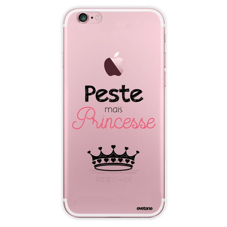 Coque Iphone 7 Iphone 8 Rigide Transparente Peste Mais Princesse Ecriture Tendan…