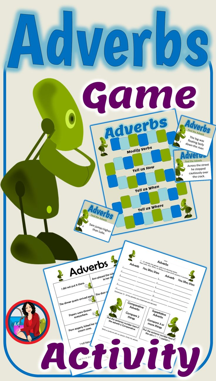Adverbs Activity & BONUS Game with Task Cards Includes