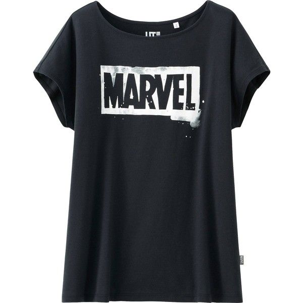 UNIQLO Marvel The Avengers Graphic Short Sleeve T-Shirt found on Polyvore