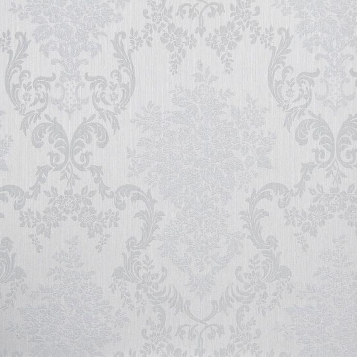 Tapet textil gri floral 072340 Sentiant Pure Kolizz Art
