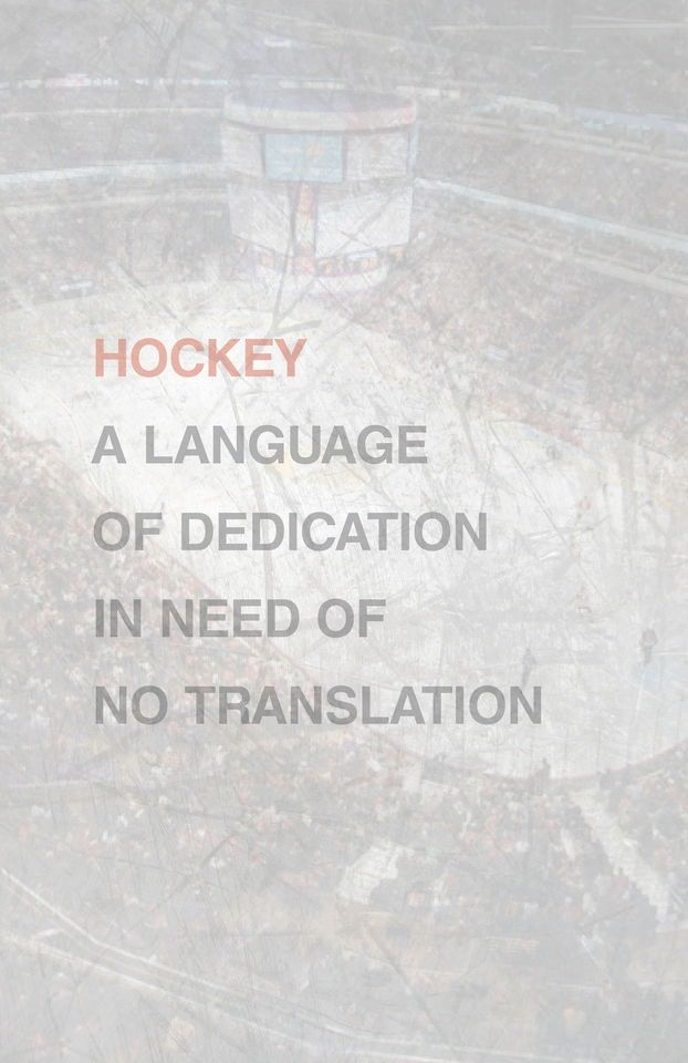Hockey: A language of dedication in need of no translation. #hockey #nhl #dedication