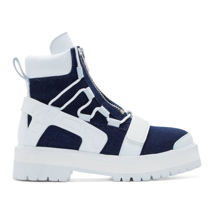 Hood by Air Indio Denim Avalanche Boots