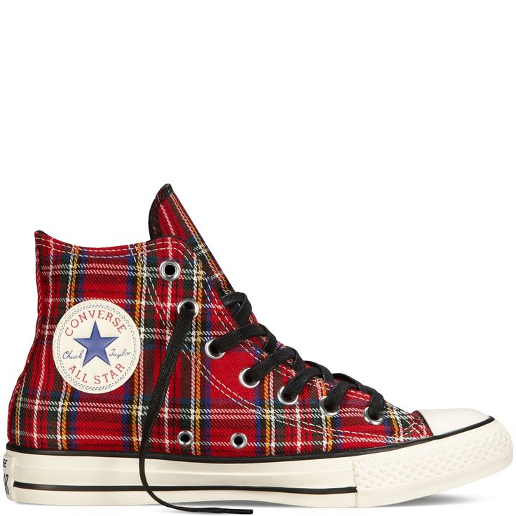 Chuck Taylor All Star Tartan Plaid red. I NEED these!