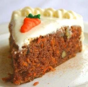 Rico pastel de zanahoria