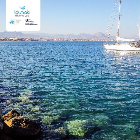 Καλημέρα από το καλοκαιρινό #Λουτράκι.  Ξεκινάμε την μέρα μας με ένα πρωινό περίπατο δίπλα στη θάλασσα.