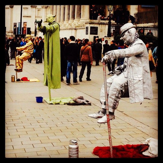 Check out #Yoda and his pals floating in #TrafalgarSquare #street #artists busking away! Get the #Kooky #London #App http://bit.ly/11XgicP #ig_London #igLondon #London_only #UK #England #English #GreatBritain #British #iPhone #quirky #odd #weird #photoftheday #photography #picoftheday #igerslondon #londonpop #lovelondon #timeoutlondon #instalondon #londonslovinit #mylondon #funny #Padgram