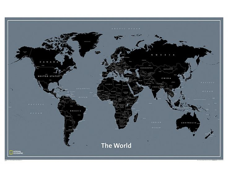 214 best world map images on pinterest wall maps cork boards national geographic modern world map education poster 91 x 61 cm sciox Choice Image