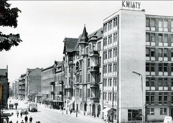 Poznań Poland, ul. Dąbrowskiego, lata 70-tych.