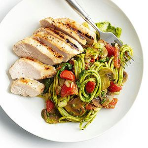 Chicken and Pasta with Spinach-Basil Pesto
